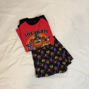 Five Nights at Freddy's long sleeved pjs